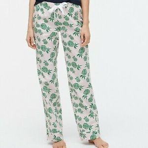 NWT J. Crew pineapple party pajama pants